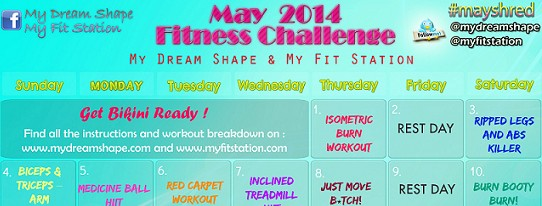 featured May fitness challenge - 31-day Workout Calendar preview