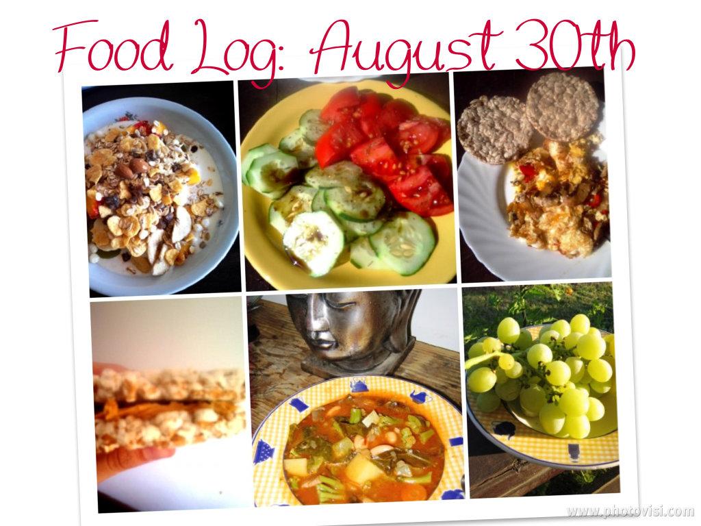 food log, august 30