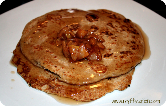 healthy apple oatmeal pancake recipe 03