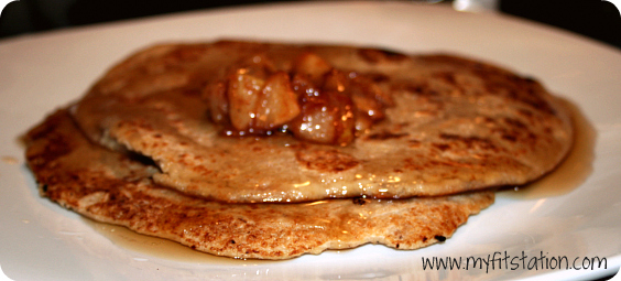 healthy apple oatmeal pancake recipe