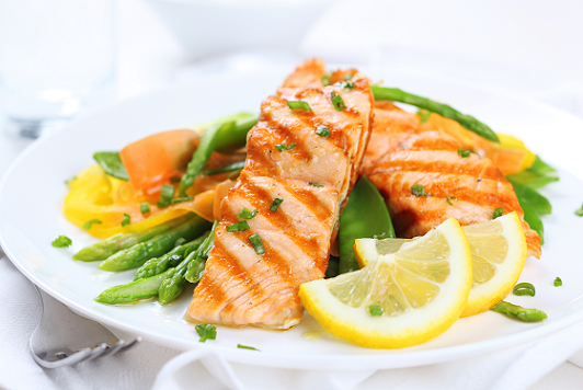 7 day shredding meal plan salmon and asparagus