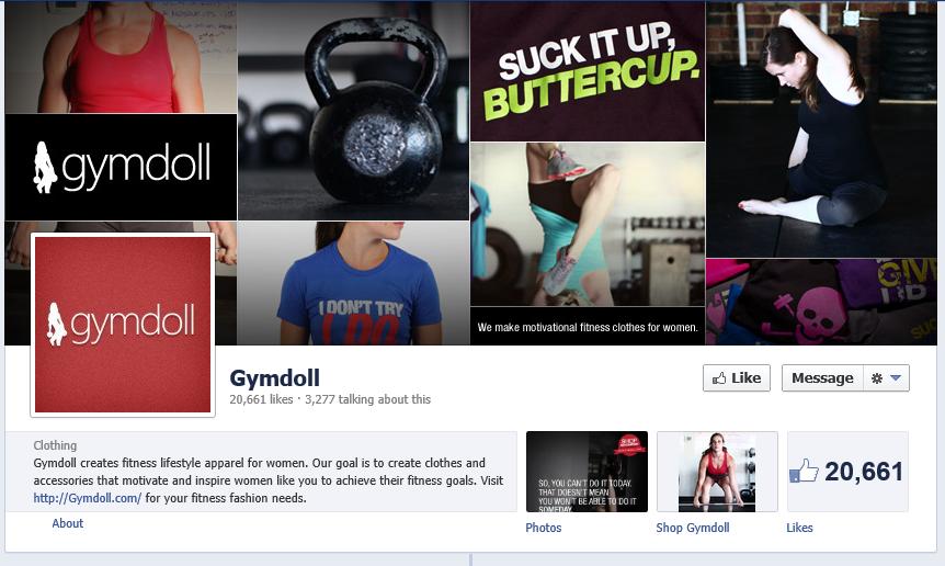 gymdoll facebook fan page