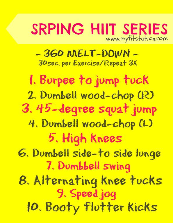 HIIT workout 360 meltdown