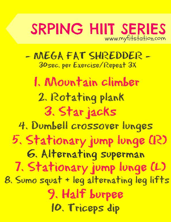 HIIT workout mega fat shredder
