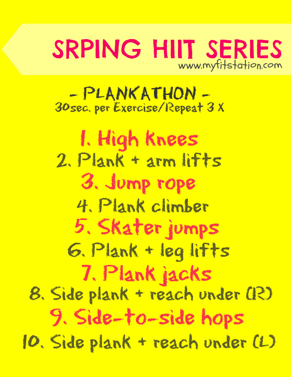 5 Things Tuesday: The Spring HIIT Series ! | My Fit Station