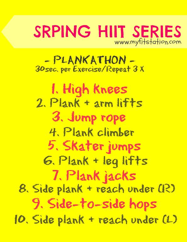 HIIT workout plankathon