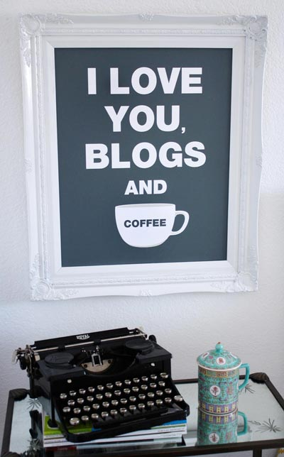 I love you blogs and coffee