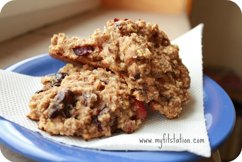 healthy chocolate cherry oatmeal cookie recipe