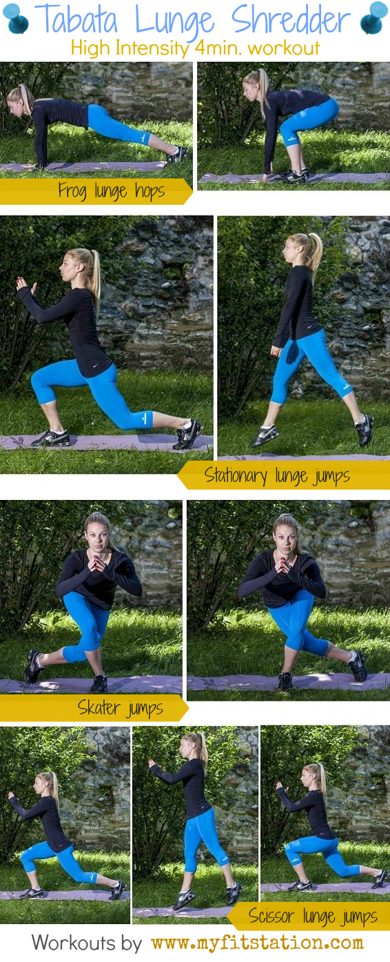 Tabata Lunge Shredder workout infographic
