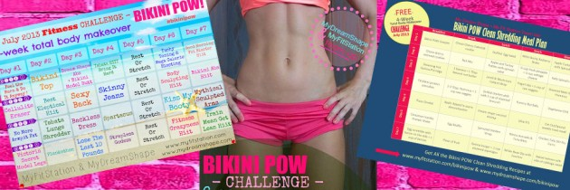 Bikini POW 4 week total body makeover July challenge