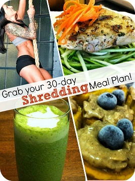 30 day shredding meal plan