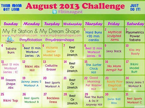 Bikini body workout calendar