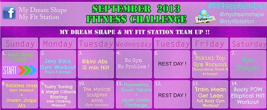 September Fitness Challenge 30 Day Workout Calendar