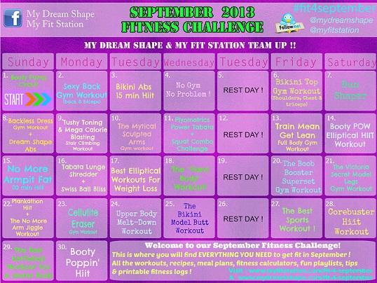 September Workout Calendar MFS