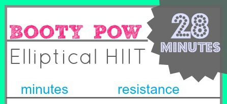 featured Booty Pow Elliptical HIIT workout