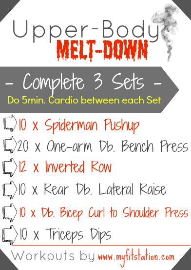 Upper Body Melt Down Workout Announcement Of Our Wod