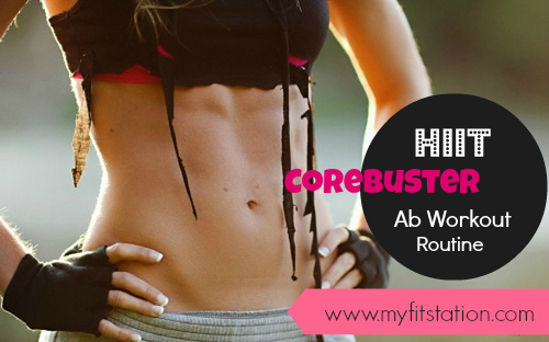 corebuster hiit ab workout routine