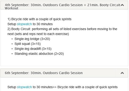 workout log 02-08 September 2013