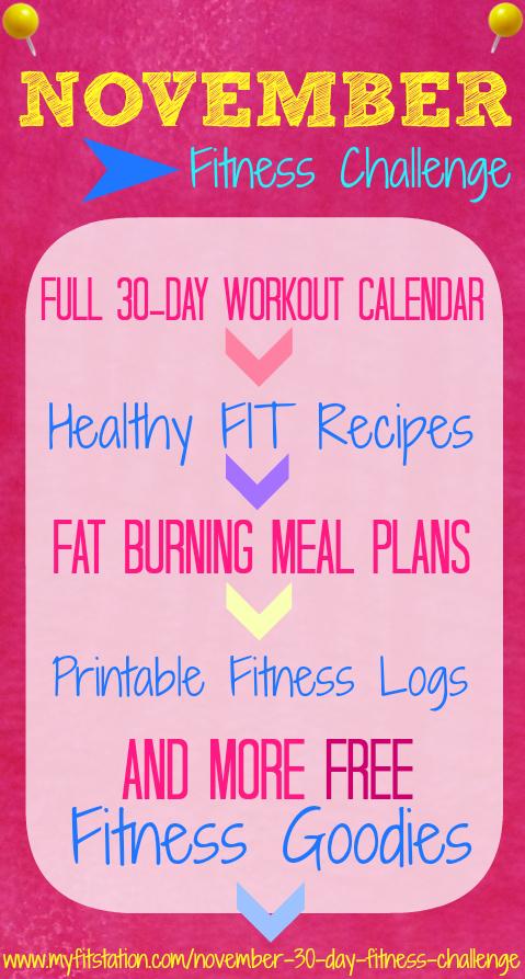 November 30 day Fitness Challenge