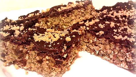 no-bake-choco-peanut-protein-bar: clean recipes on the go