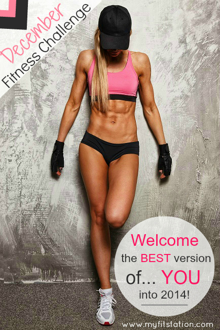 December Fitness Challenge - 31 day workout calendar