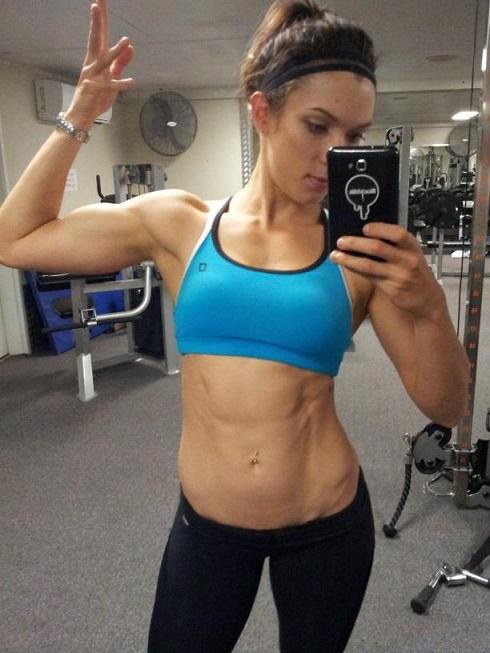 fitness babe Nikita Coleman selfie