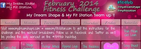 featured February Workout Calendar