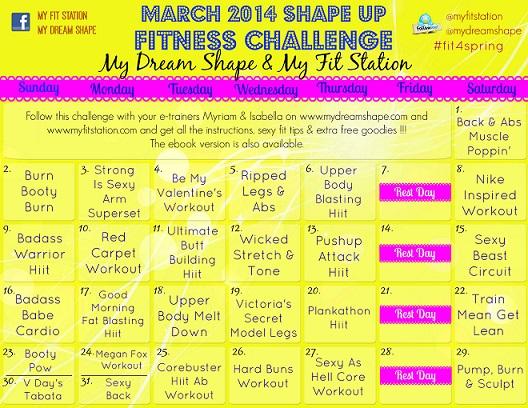 Challenge Workout Calendar