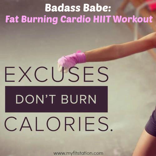 Badass Babe Fat Burning Cardio HIIT Workout