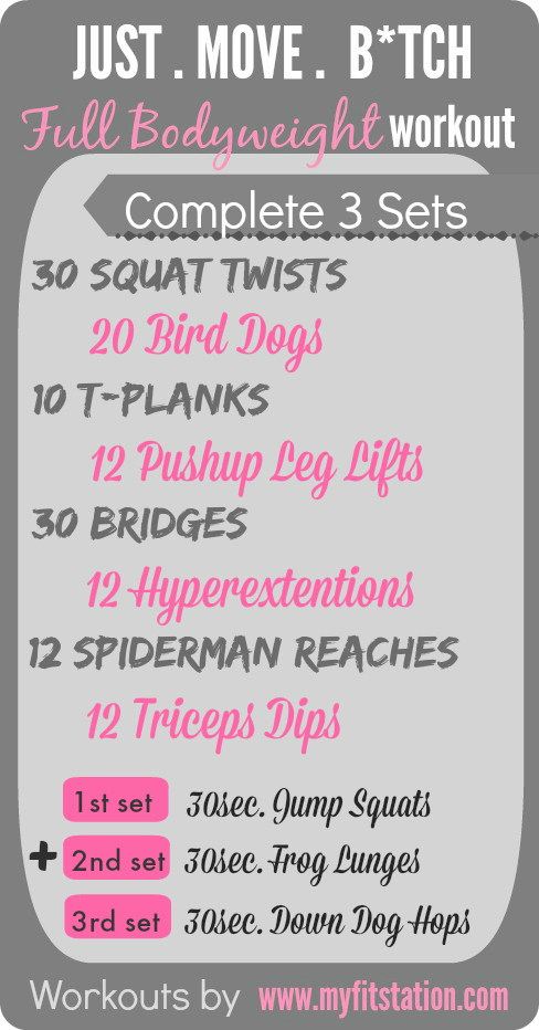 Full Bodyweight Workout