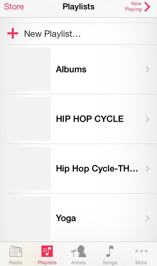Organize your workout playlists