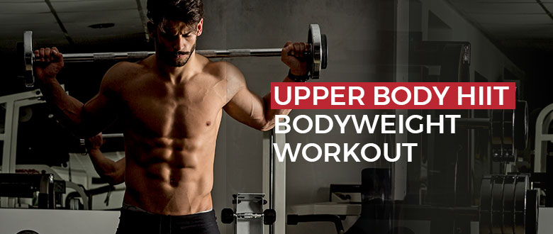 Upper Body HIIT Bodyweight Workout Featured Image