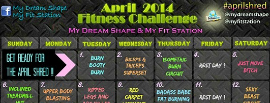 featured april fitness challenge workout calendar