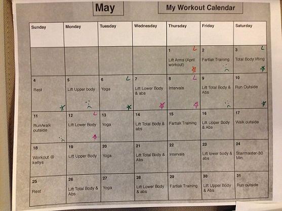 Andrea's Training Program - Workout Calendar