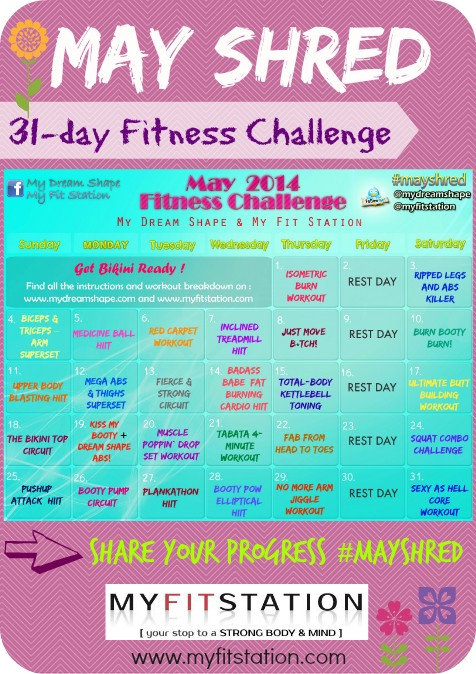 May Fitness Challenge - 31-day May Shred