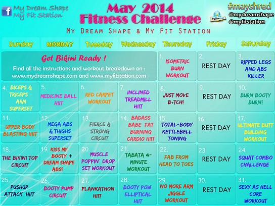May fitness challenge - 31-day Workout Calendar preview