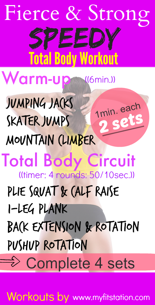 Speedy Total Body Workout - Printable