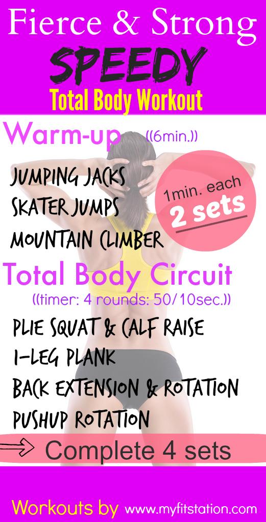 Speedy Total Body Workout - Printable