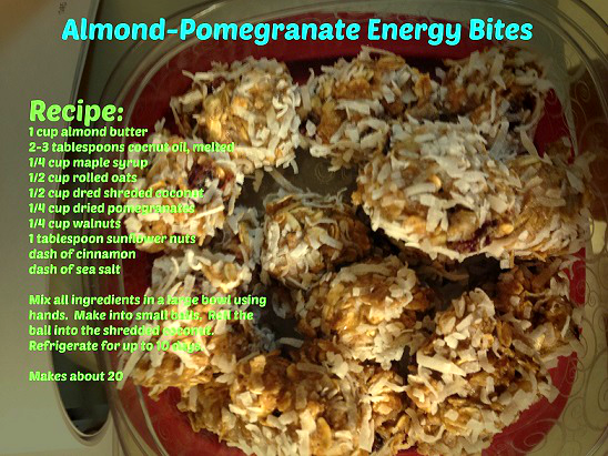 weight loss nutrition - almond energy bites