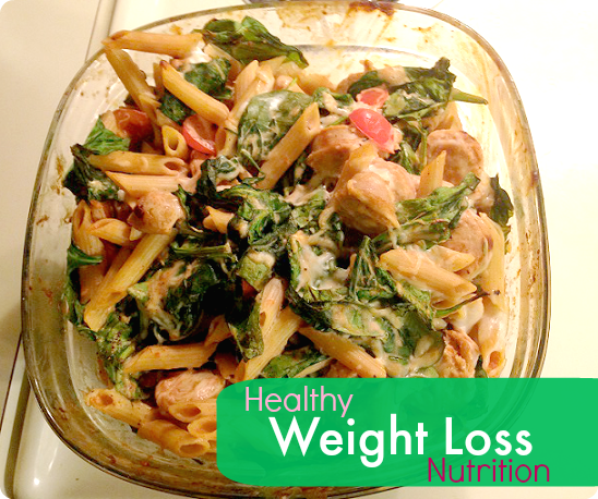 weight loss nutrition - pasta chicken