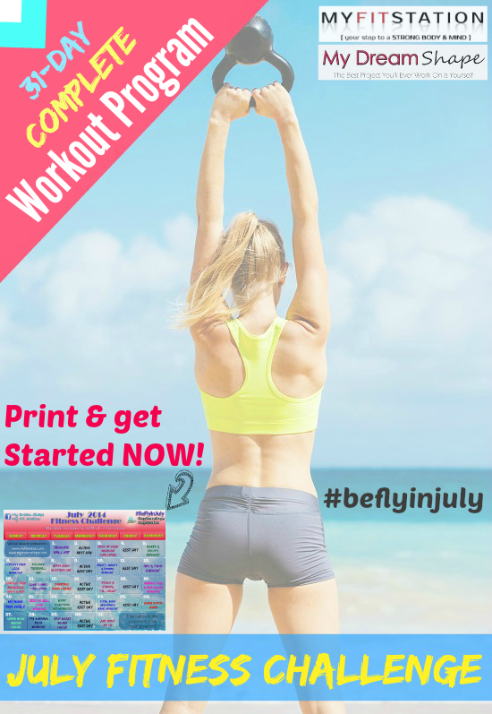 Be Fly in July Fitness Challenge 2014