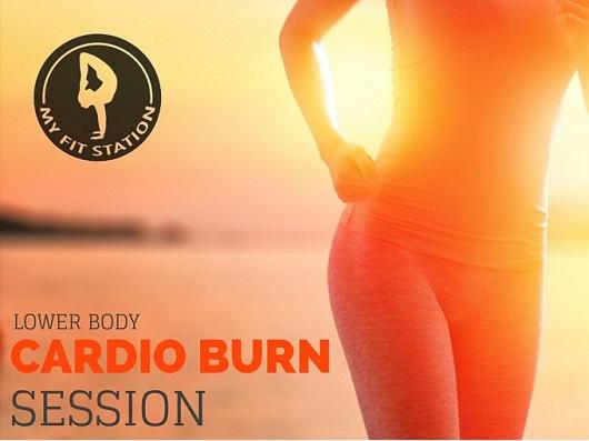 Lower Body Cardio Burn Session - workout myfitstation