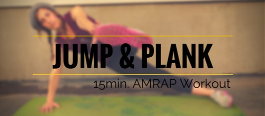 Jump & Plank 15min. AMRAP Workout