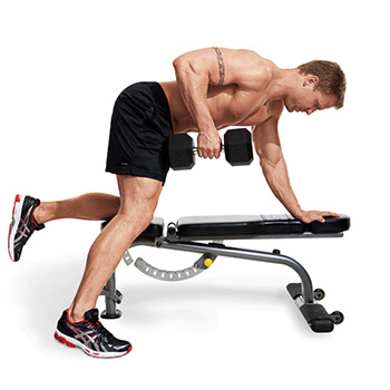 Dumbbell lying rows