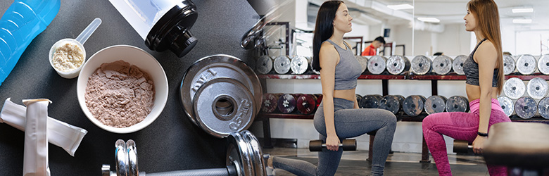 Protein and Workout Banner