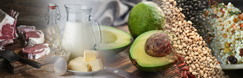 Yello Food list - Milk, avocado, seeds